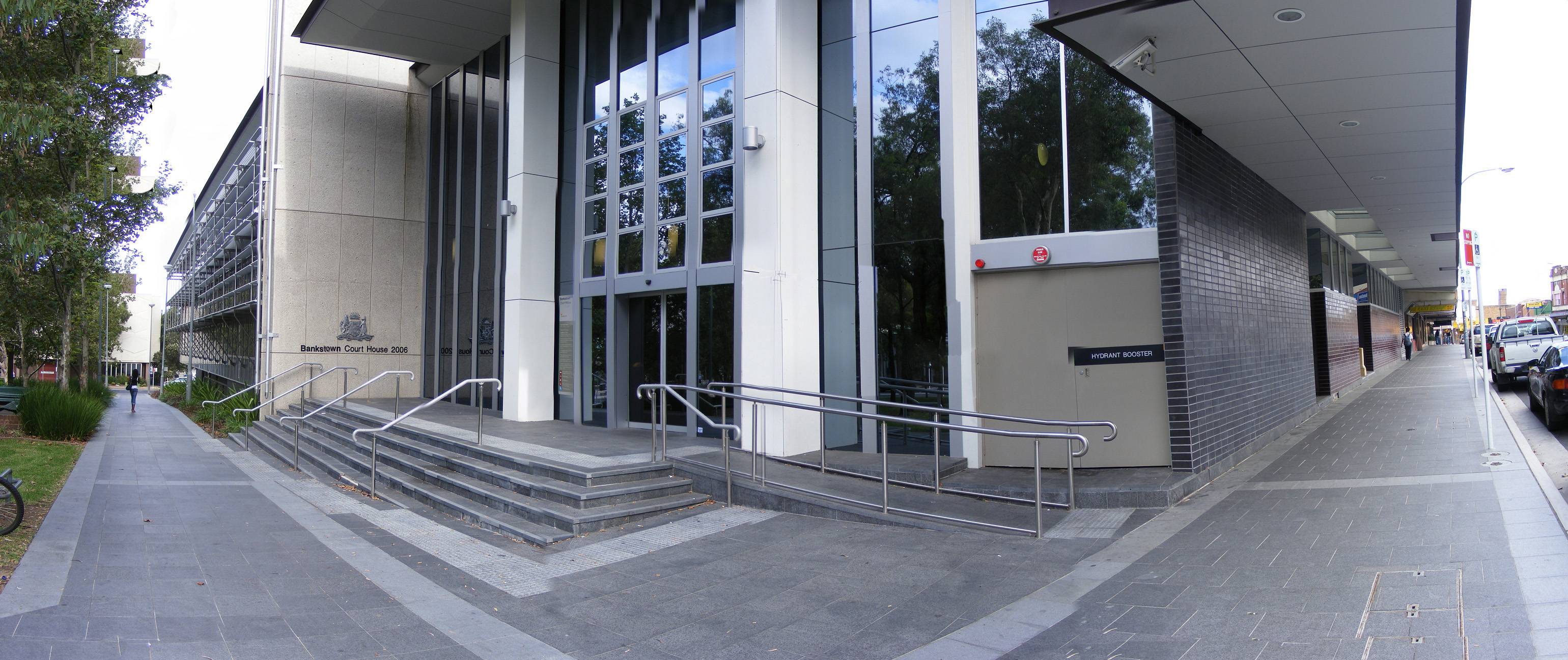 Panoramic image of Bankstown Court House in NSW Australia by Adam JWC